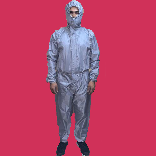 R01 Reusable Parachute PU Coated Suit Front (Gray) aa